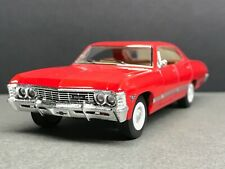 "1:43 Kinsmart 1967 Chevrolet Impala Red - Under 5"" Long - Great for Display"