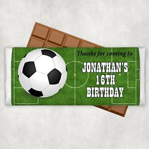 Soccer Themed Chocolate Wrappers x 10