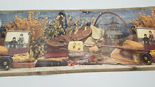 Wall Paper Boarder Chesapeake Fishing Cottage Rustic Cabin  3.5 ROLLS 17.5 Feet