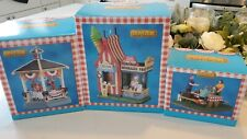 Lot of 3 NEW LEMAX Summer Ice Cream Stand Gazebo and more 2018 table accent RARE