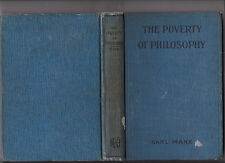 Poverty of Philosophy, Karl Marks, in English, ca 1910 hardcover, no DJ