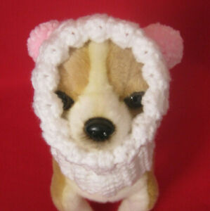 Teacup or small dog Pompoms Hat. Will fit size  in S and XS