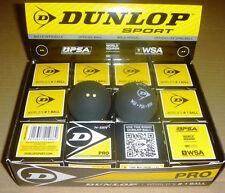 12 x DUNLOP Pro Double Yellow Dot Squash Ball