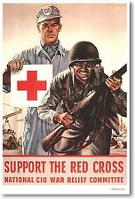 Support The Red Cross - NEW Vintage Reprint POSTER