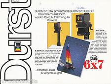 Prospekt Durst Vergrößerer M 670 BW + Color 7/83 brochure enlarger 1983 Germany