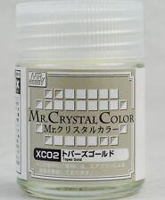 MR HOBBY Crystal Color Gunze LACQUER  XC02 Topaz Gold MODEL KIT PAINT 18ml