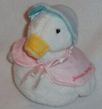 Gund Plush Jemima Puddle Duck Beatrix Potter Chime Rattle Stuffed Baby Toy