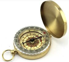 Quality Brass Pocket Compass With Illuminated Face Boy Scouts Military Camping