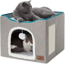 Bedsure Cat Cube Kitty Bed Cat House Condo for Indoor or Outdoor Cats -Large Cat