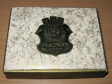 Vintage Piatnik Wien Austria Double Deck Playing Cards Box Louis XIV Court