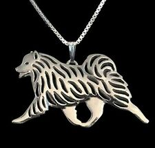 Samoyed Running Dog Pendant Necklace Fashion Jewellery -Silver Plated