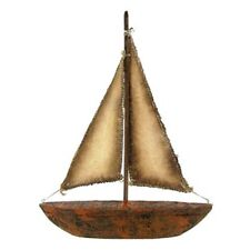 Gorgeous Rustic Pinewood Sailboat -Sail into refreshing and peaceful decor.