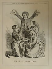 "7x10"" punch cartoon 1860 THE TRUE LOVERS KNOT"