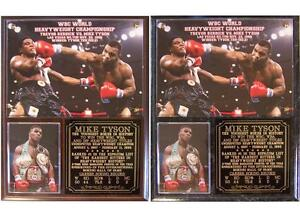 Mike Tyson Heavyweight Champion Boxing Hall of Fame Iron Mike Photo Plaque