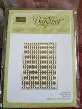 Stampin Up ARGYLE EMBOSSING FOLDER New in package