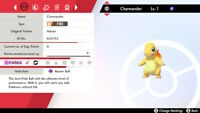 Pokemon Sword and Shield - 6IV Shiny Charmander w Pokerus Master Ball Link Trade