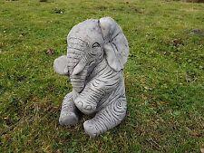 Large Elephant Trunk Down Stone Statue Bespoke Handcast Garden Ornament  Decor