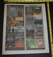 DJ Pauly D 2010 Appearance Ads Terminal 5 NY & Wellmont Theatre NJ JERSEY SHORE