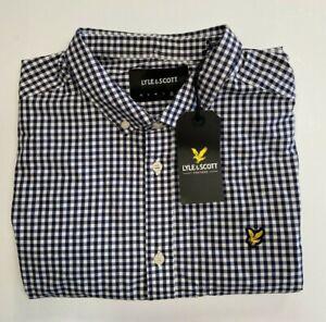 Lyle & Scott Short Sleeve Poplin Shirt Mens SIZE UK XL REF CN1365=