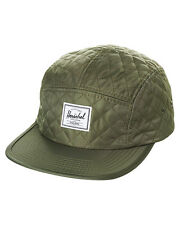 New Herschel Supply Co Men's Glendale Classic 5 Panel Cap Cotton Nylon Green
