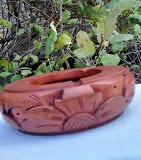 Carved Hand wooden Wood ashtray Bali Indonesia