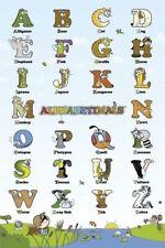 TEACHING POSTER - ALPHABETIMALS 24x36 Teach Teacher Learn Alphabet Animals