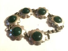 SCOOTER - BRACELET METAL FORME ETOILES & CABOCHONS VERT, ancienne collection