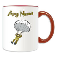 Personalised Gift Airborne Mug Money Box Cup Army Armed Forces Soldier Weapon