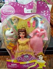 DISNEY PRINCESS FAVORITE MOMENTS BELLE FIGURE & EXTRA OUTFIT MS POTTS *NEW*
