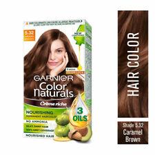 Garnier Color Naturals Nourish Creme Hair Color - 5.32 Caramel Brown 70ml + 60gm