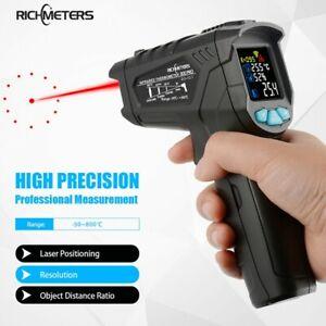 550℃/800℃ Non contact Digital Infrared Thermometer Laser IR Temperature Gun UK