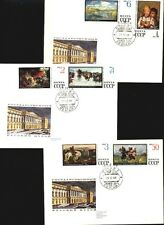 Russia 1968 FDC Famous MUSEUM PAINTINGS set 10 stamps on 5 covers