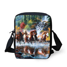 Cool Horse Designs Crossbody Messenger Sling Small Purse Zipper Closer Handbag