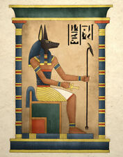 Egyptian Art Print Ancient God Anubis Wall Decor