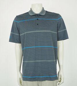 Adidas Golf ClimaCool Gray Striped Tech Golf Polo Shirt Mens Large