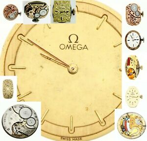 OMEGA Antique Vintage Winding Watch movement For parts ,Replacement Varieties