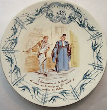humorous French plate Luneville, Wonders of XXth century: Emancipation of woman