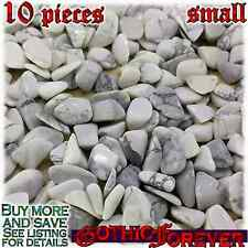 10 Small 10mm Combo Ship Tumbled Gem Stone Crystal Natural - Magnesite Zimbabwe