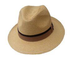 Hombre de sombrero de paja unisex elegante kofferhut verano vacaciones playa Paja