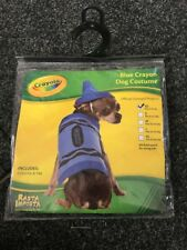 Crayola Pet Dog Crayon Party Outfit Fancy dress Clothes - Size XS - Blue