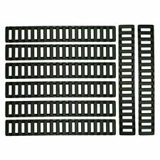 8 Pcs Low Profile Heat Resistant Rifle Rail Cover for Picatinny Rails - Black