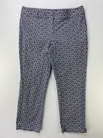 Ann Taylor LOFT Sz 12 Pants Black And White Crop Capri Ankle Curvy
