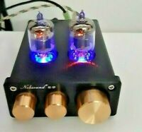 Nobsound Preamplifier Vacuum Tube Preamp HiFi Stereo Audio Treble & Bass NEW