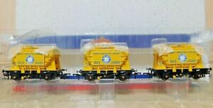 Bachmann Branch Line 38-286  OO/HO Presflo 22t Blue Circle Cement Wagon Set NIB