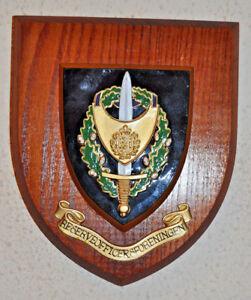 Reserveofficersforeningen Danish Reserve Officers Association plaque shield