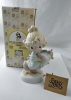 Precious Moments Figurine Lord, Help Me Stick To My Job 1989 #521450 in Box