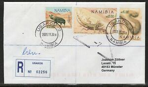 Namibia Cover - Usakos 2 20.11.2001 Lizard Hyaena