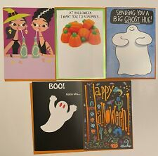 RECYCLED PAPER GREETINGS 5 LOT HALLOWEEN GREETING CARDS BY PAPYRUS $19.05 VALUE