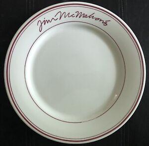 Rare Chicago Bears Jim McMahon's Restaurant Dinner Plate Signature Buffalo China