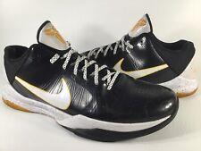 Nike Zoom Kobe 5 V Del Sol Black White Yellow Mens Size 13 Rare 386429-002